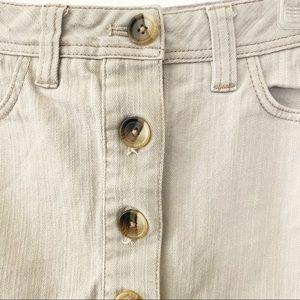 Boden Skirts - Boden Button Front Pencil Skirt Tan (2)